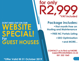Website Special for Guest Houses | Mier Accommodation, Business & Tourism Portal